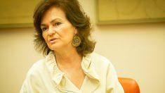 Carmen Calvo, vicepresidenta del Gobierno. (EP)