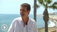 Pablo Casado en Roquetas de Mar.