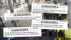Algunas de las exclusivas sobre los atentados del 17-A y su investigación publicadas por OKDIARIO