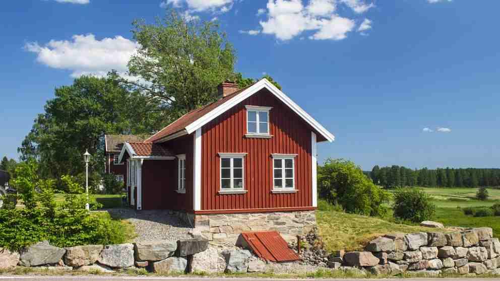 Tipico paisaje de los países escandinavos