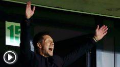Simeone, durante la final de la Supercopa de Europa. (Getty)