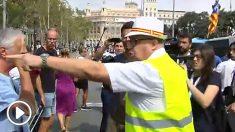 Los CDR han protagonizado incidentes en los actos del 17-A en la Plaza de Cataluña