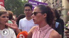 Una ciudadana constitucionalista afeando a los CDR su manipulación del 17-A.