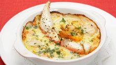Receta de Centollo gratinado con langostinos y jamón fácil de preparar