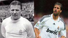 Puskas y Van Nistelrooy, dos de los únicos delanteros que han fichado por el Real Madrid teniendo más de 30 años.