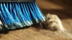 Formas de limpiar la escoba para evitar que se acumulen pelusas