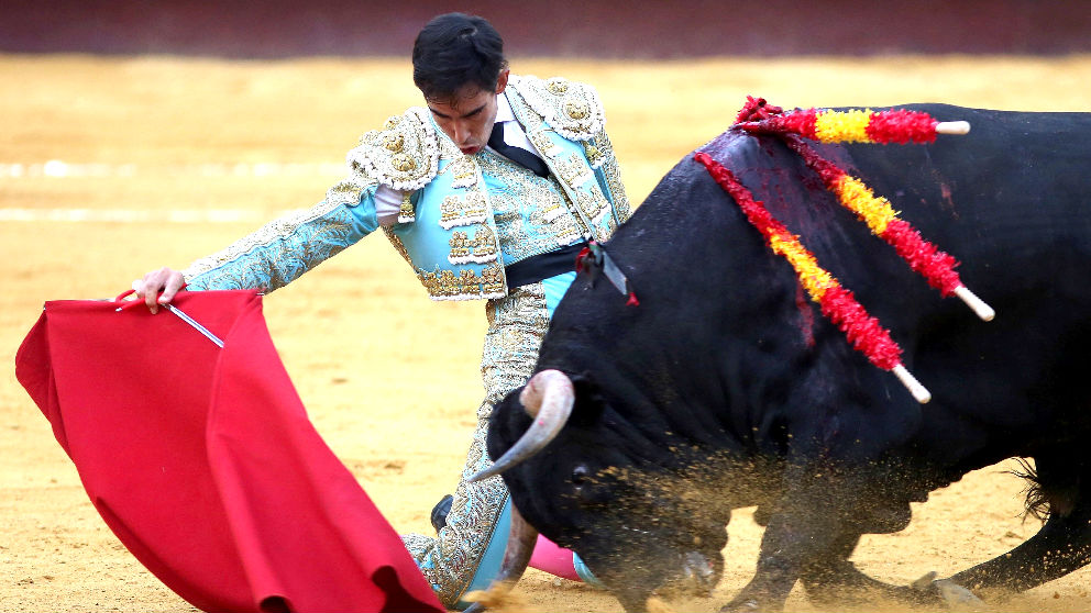 Fortes durante una de sus faenas este viernes en Málaga (Foto: EFE).