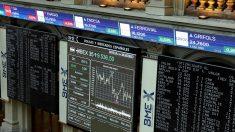 Interior de la Bolsa madrileña.