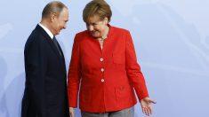 Vladimir Putin y Angela Merkel, en la cumbre del G-20 de Hamburgo. (Getty)