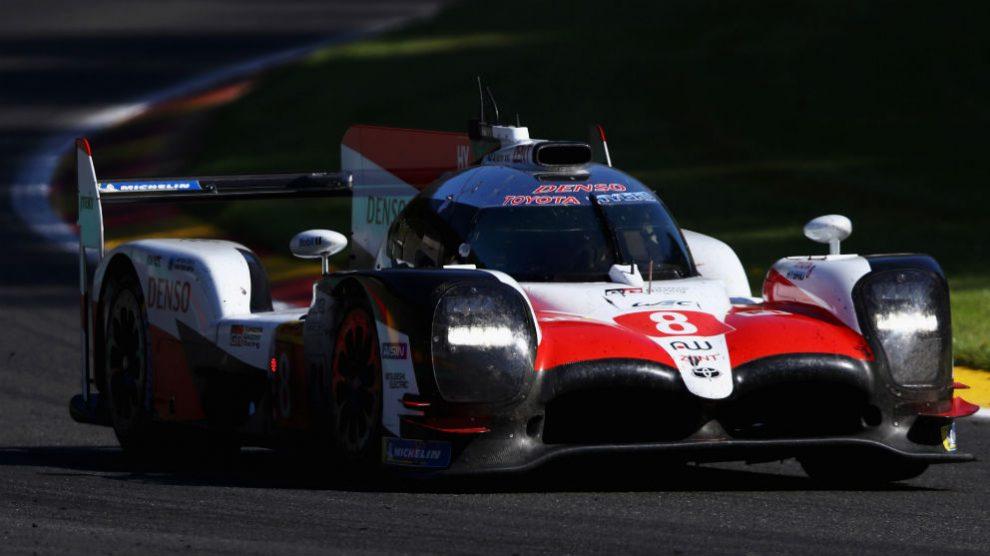 El Toyota número 8 de Fernando Alonso. (Getty)