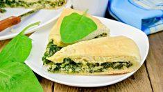 Receta de Pastel de espinacas y feta tradicional griego fácil de preparar