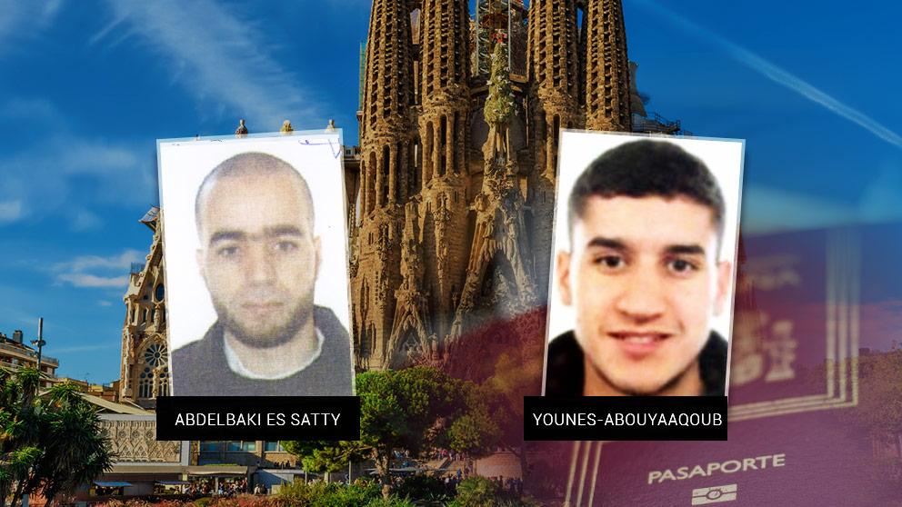 El imán de Ripoll, Abdelbaki Es Satty, y el terrorista Younes Abouyaaqoub, que conducía la furgoneta de Las Ramblas.