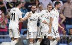 Los jugadores del Real Madrid celebran el gol de Carvajal. (AFP)