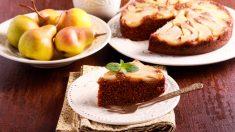 Receta de pastel de pera y avena, ideal para una merienda especial