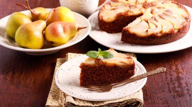 pastel de pera y avena