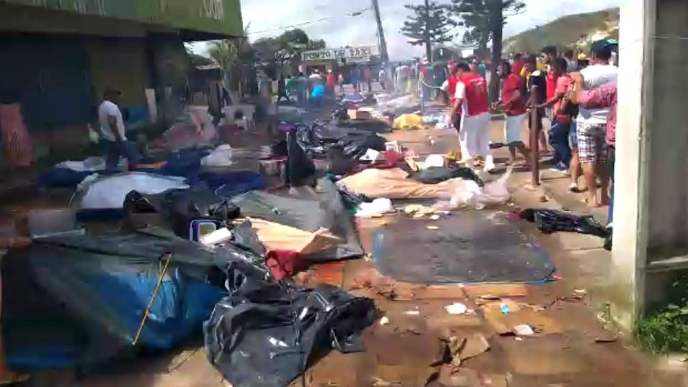 Ataques xenófobos a venezolanos huidos de Maduro en Pacaraima (Brasil).