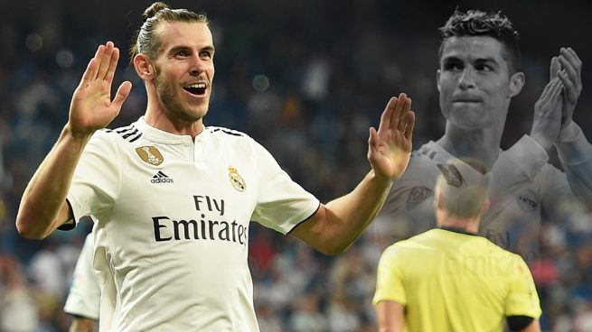 Bale pone cara de Cristiano
