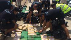 Fardos de cocaína incautados por funcionarios de la Agencia Tributaria de Baleares. (EP)