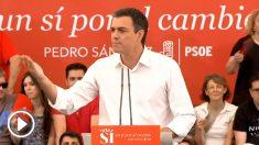 Pedro Sánchez durante un acto de campaña el 24 de junio de 2016.