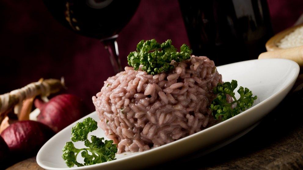 Receta de arroz al vino tinto