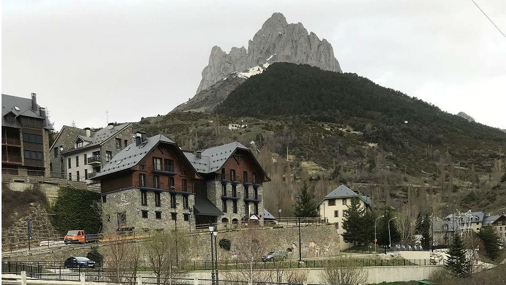 El pueblo de Sallent de Gállego (Huesca.