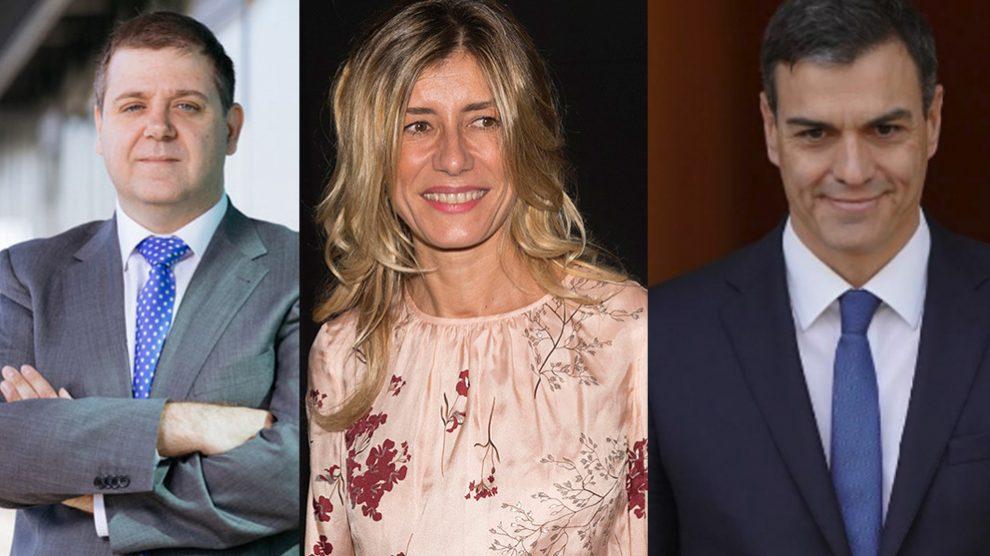 Juan Manuel Serrano, Begoña Gómez y Pedro Sánchez