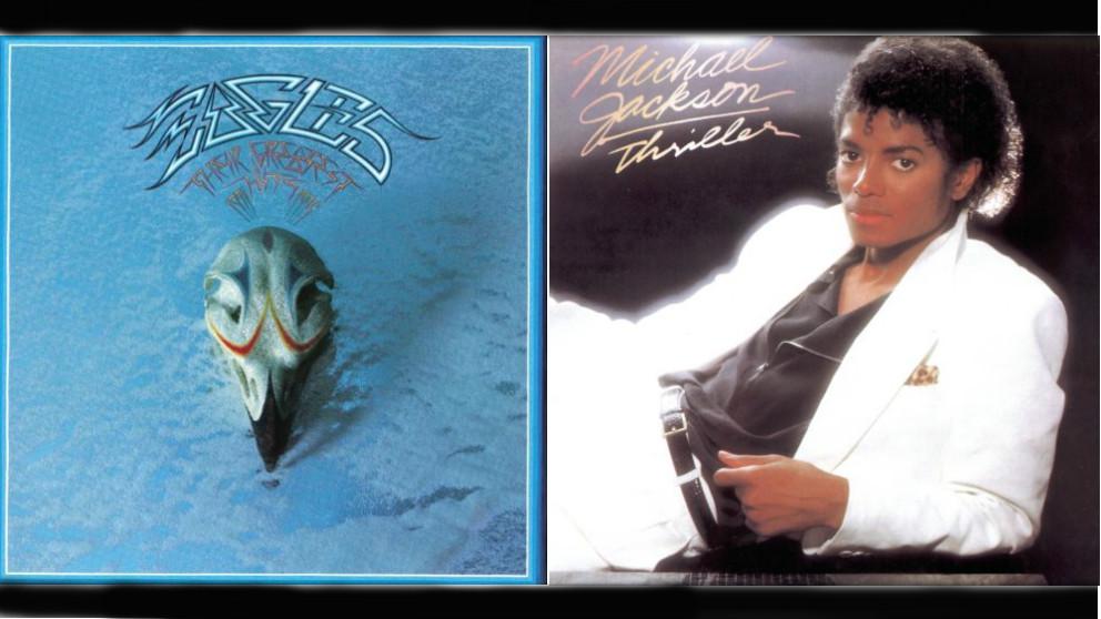 'Greatest Hits 1971-1975', disco de 'The Eagles', y 'Thriller' de 'Michael Jackson'.