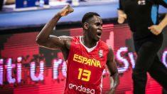 Usman Garuba durante un partido del Europeo sub-16 (FIBA).