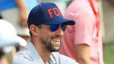 Michael Phelps, durante un torneo de golf. (Getty)