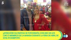Isa Pantoja y la foto que ha mostrado 'Sálvame'. (Foto: 'Sálvame')