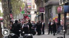 Operación en París por la toma de rehenes en un piso del pasage Brady (distrito 10).