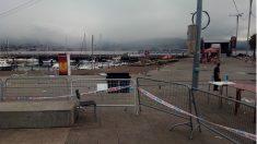 Vista de la zona del puerto de Vigo afectada por el derrumbe de O Marisquiño. (EP)