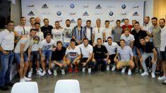 Los jugadores de la Liga, en la reunión en la AFE. (AFE)