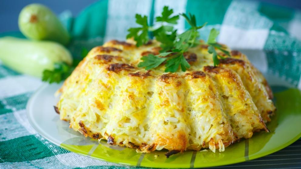 Receta de Budín de arroz y berenjenas muy fácil de preparar