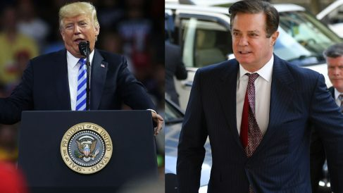 Donald Trump y Paul Manafort. (Foto: AFP)