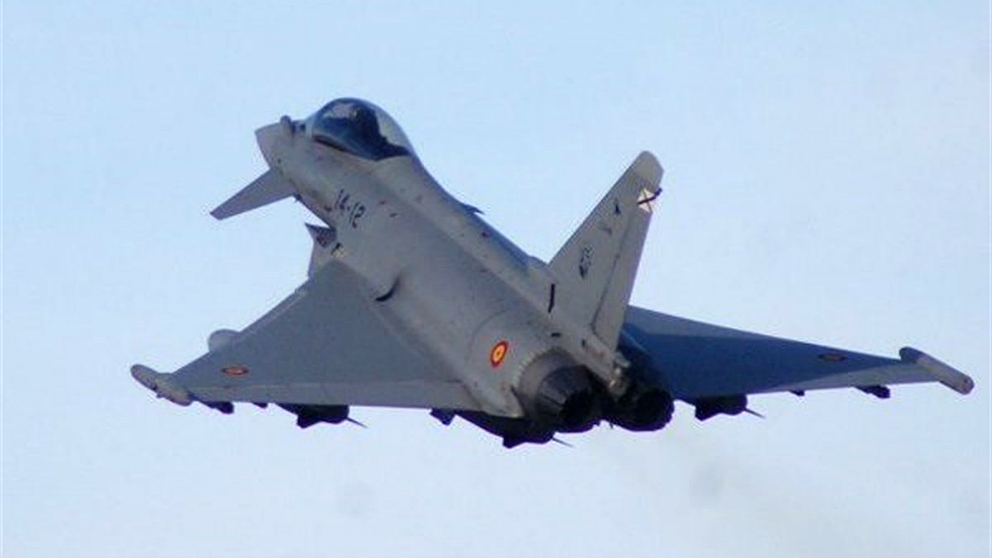 Avión tipo caza Eurofighter del Ejército del Aire español. (EP)