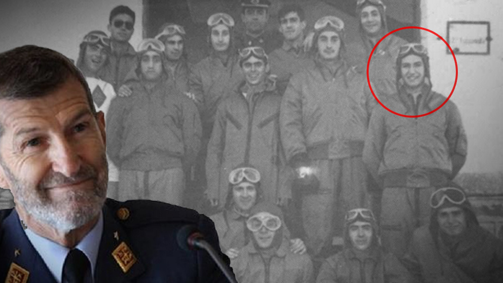 La imagen de Julio Rodríguez como «caballero cadete» del Ejército de Franco