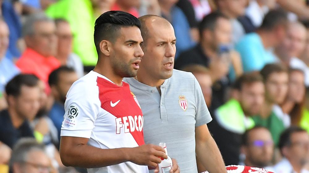 Falcao, con Jardim, entrenador del Mónaco, en una imagen reciente (AFP).