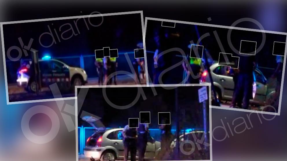 Imágenes en exclusiva de la identificación a personas de los mossos.