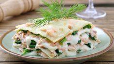 Receta de lasaña de salmón ahumado, un plato fresco y sencillo