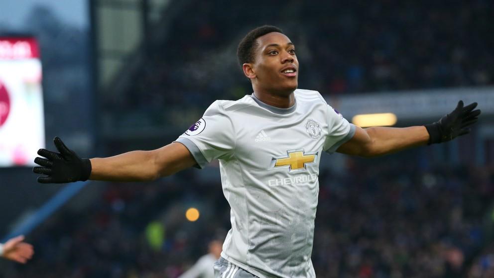 Martial celebra un gol con el United. (Getty)