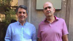 Portavoces de Impulso Ciudadano presentando la denuncia (RRSS).