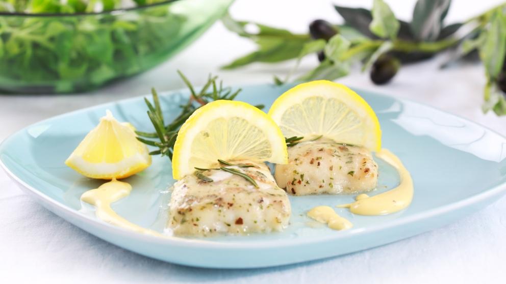 Receta de merluza con mantequilla y limón