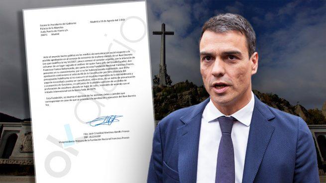 La Fundación Franco comunica a Sánchez que se plantea denunciarle por prevaricación