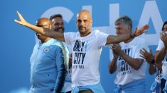 Guardiola, en una celebración con el City. (Getty)