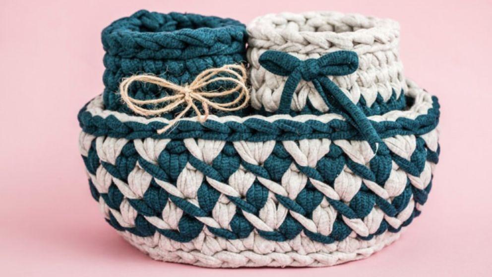 Pasos para saber hacer una cesta de trapillo de manera fácil
