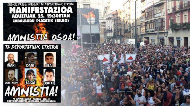 Los proetarras aprovechan la Semana Grande de Bilbao para homenajear a tres asesinos excarcelados