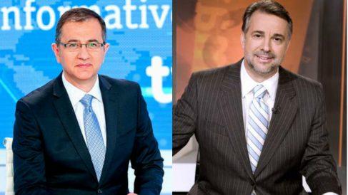 Pedro Carreño, ex director del telediario de fin de semana, y Jenaro Castro, ex director de Informe Semanal.