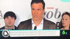Cuando Pedro Sánchez rechazaba las devoluciones en caliente. (Vídeo: 'La Sexta')