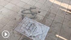 La placa de Thibaut Courtois en el Wanda Metropolitano.